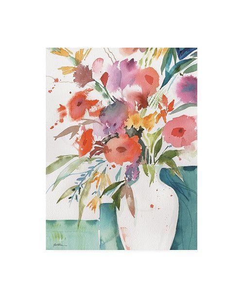 """Trademark Global Sheila Golden Bright Flowers 4 Canvas Art - 37"""" x 49"""""""