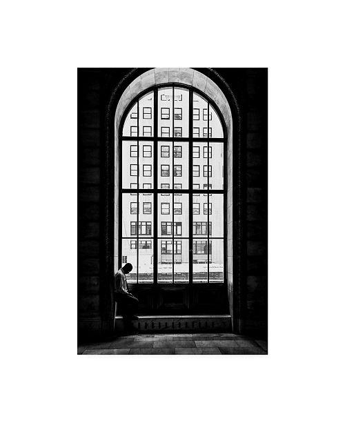 """Trademark Global Massimo Della Latta Lonely Man in the Window Canvas Art - 37"""" x 49"""""""