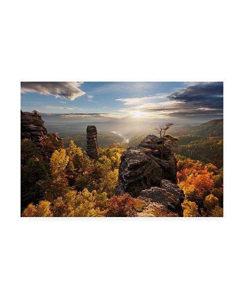 "Trademark Global Martin Rak Autumn in the Rocks Canvas Art - 20"" x 25"""