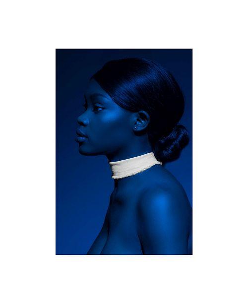 "Trademark Global Johan Koops Blue Portrait Canvas Art - 20"" x 25"""