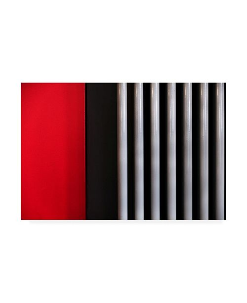 """Trademark Global Rolf Endermann Red and White Architecture Canvas Art - 15"""" x 20"""""""