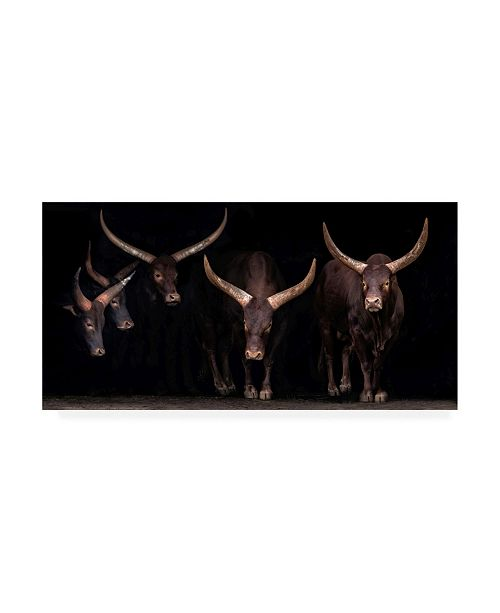 "Trademark Global Xavier Ortega Watusi Family Canvas Art - 15"" x 20"""