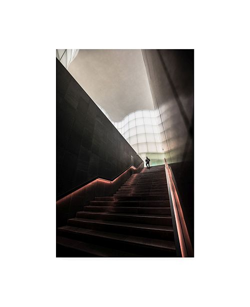 """Trademark Global Marco Tagliarino Staircase from Future Canvas Art - 20"""" x 25"""""""