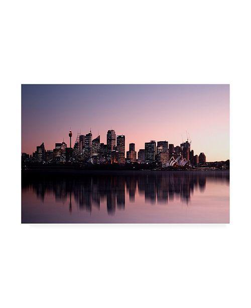 "Trademark Global C S Tjandra Sydney Opera Night Canvas Art - 20"" x 25"""