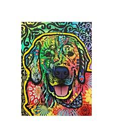 """Dean Russo Dog Pop Green Canvas Art - 15"""" x 20"""""""