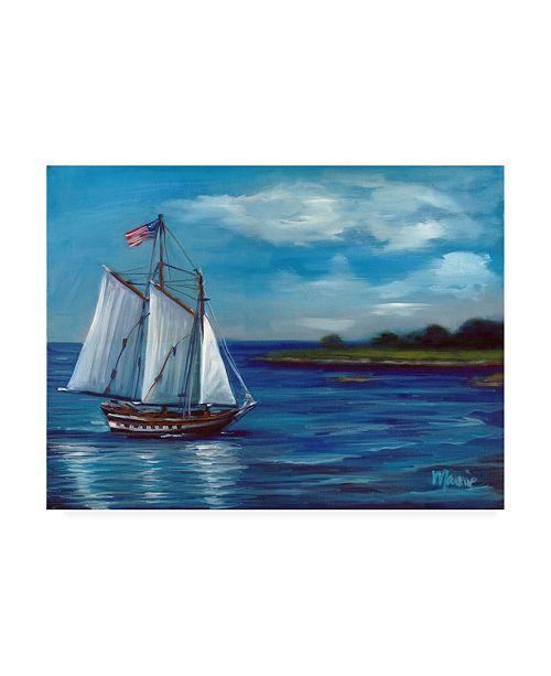 "Trademark Global Marnie Bourque Flag on Parade Canvas Art - 20"" x 25"""