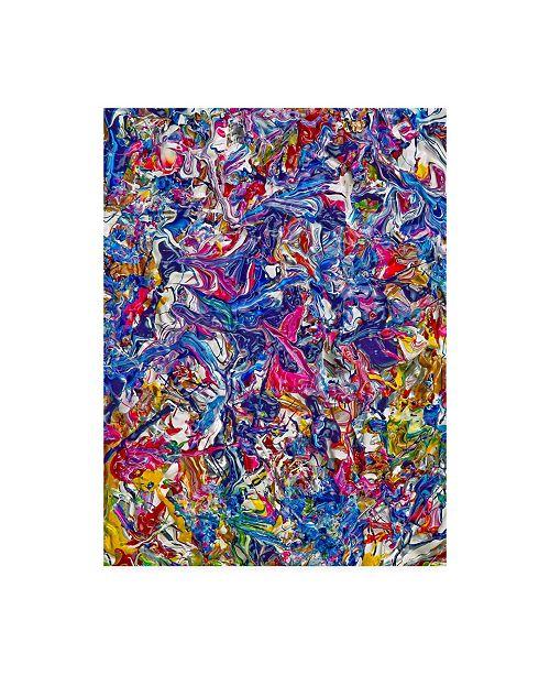 "Trademark Global Mark Lovejoy Abstract Splatters Lovejoy 34 Canvas Art - 20"" x 25"""