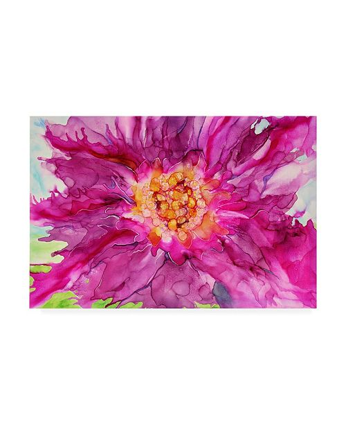 """Trademark Global Michelle Mccullough Pink Passion Canvas Art - 15"""" x 20"""""""