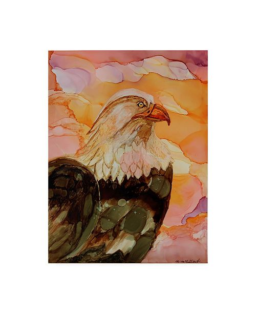 """Trademark Global Michelle Mccullough Majestic Eagle Orange Canvas Art - 20"""" x 25"""""""
