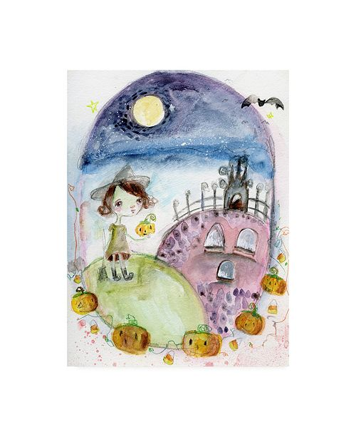 "Trademark Global Mindy Lacefield This is Halloween Canvas Art - 20"" x 25"""