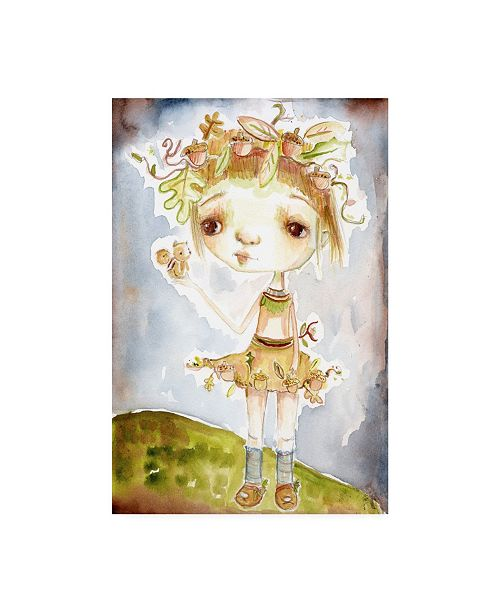 "Trademark Global Mindy Lacefield Acorn Princess Canvas Art - 20"" x 25"""