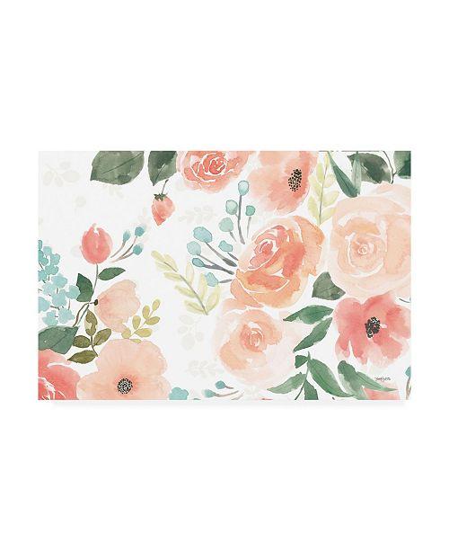 """Trademark Global Jenaya Jackson Blooming Delight III White Canvas Art - 15"""" x 20"""""""