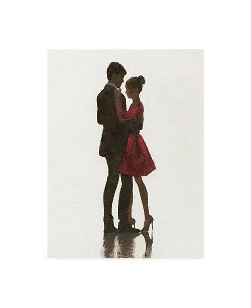 "Trademark Global Marco Fabiano The Embrace Ii Red Dress Canvas Art - 20"" x 25"""
