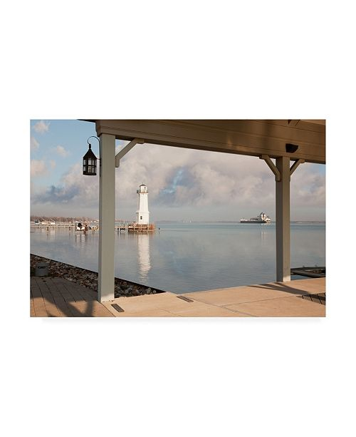"Trademark Global Monte Nagler Grosse Ile Lighthouse Detroit Michigan Canvas Art - 20"" x 25"""