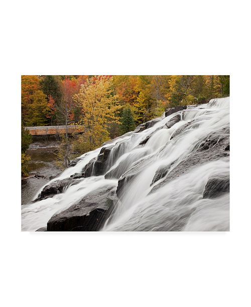 "Trademark Global Monte Nagler Bond Falls Cascades in Autumn Bruce Crossing Michigan Color Canvas Art - 15"" x 20"""