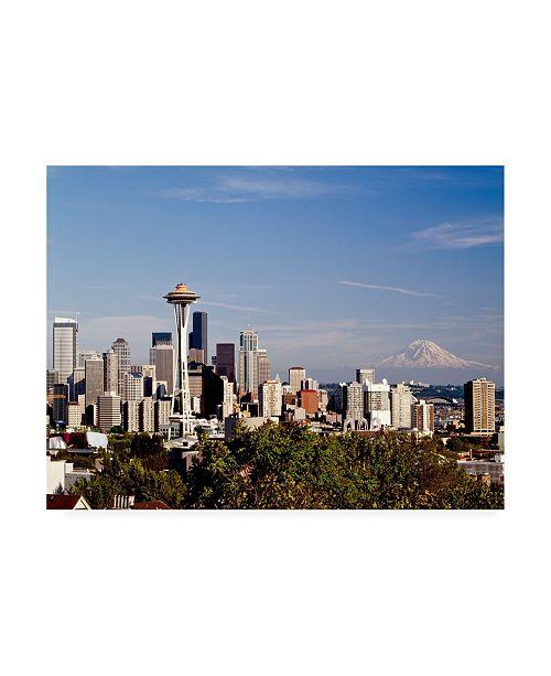"Trademark Global Monte Nagler Seattle Cityscape Seattle Washington Color Canvas Art - 37"" x 49"""