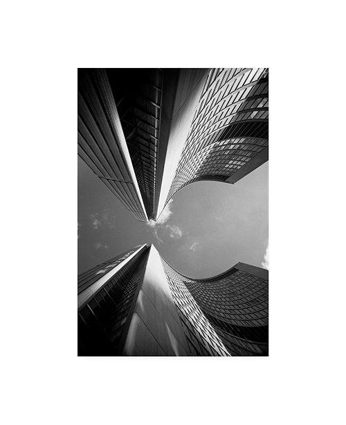 "Trademark Global Monte Nagler Building Abstract New York City Canvas Art - 37"" x 49"""