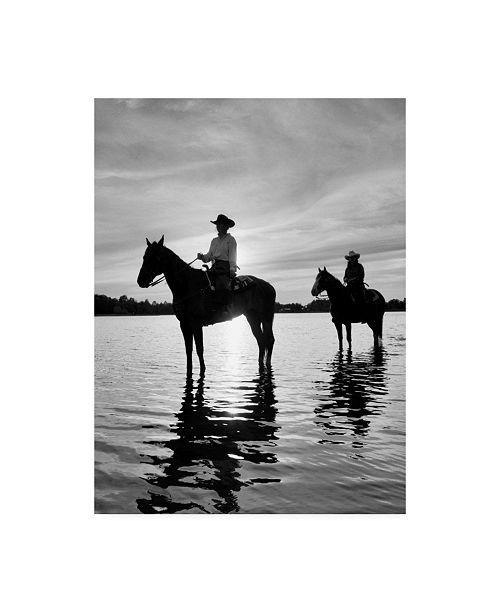 "Trademark Global Monte Nagler Riding at Sunset Rothbury Michigan Canvas Art - 15"" x 20"""