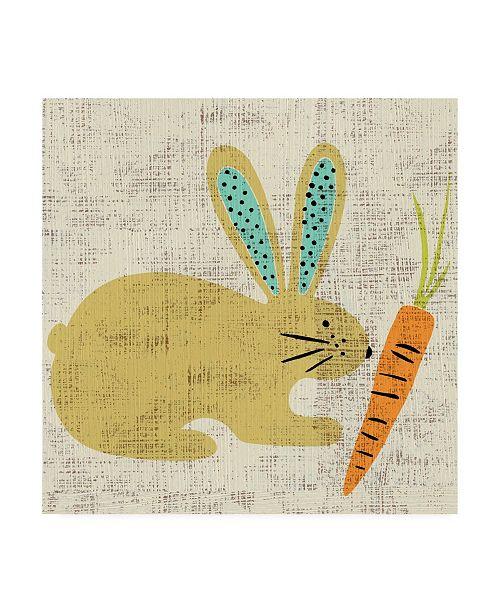 "Trademark Global Chariklia Zarris Adas Bunny Canvas Art - 27"" x 33"""