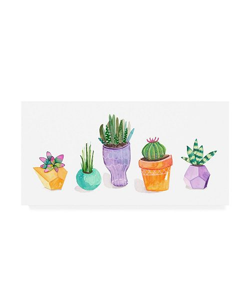 "Trademark Global Rebekah Ewer Succulent Display II Canvas Art - 37"" x 49"""