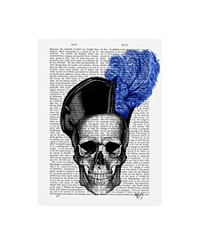 """Fab Funky Skull with Blue Hat Canvas Art - 15.5"""" x 21"""""""