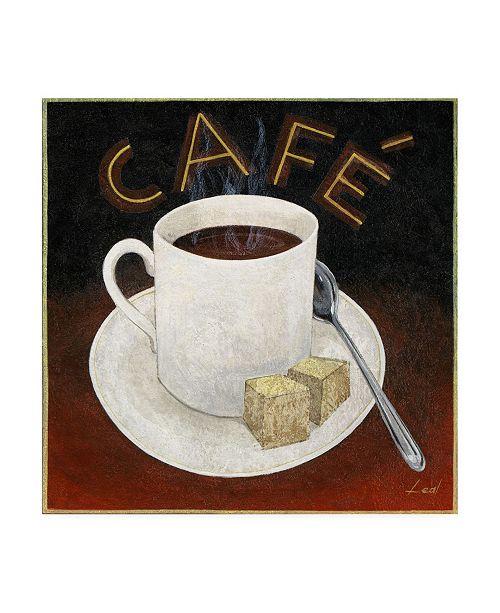 "Trademark Global Pablo Esteban Cafe Coffee Steam Canvas Art - 15.5"" x 21"""