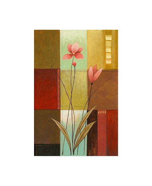 "Trademark Global Pablo Esteban Tall Pink Canvas Art - 15.5"" x 21"""