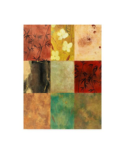 "Trademark Global Pablo Esteban Patchwork 2 Canvas Art - 27"" x 33.5"""