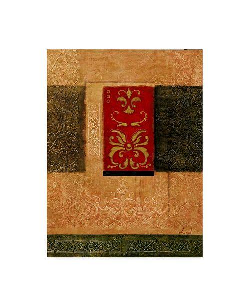 "Trademark Global Pablo Esteban Red Stamp Orange 2 Canvas Art - 15.5"" x 21"""
