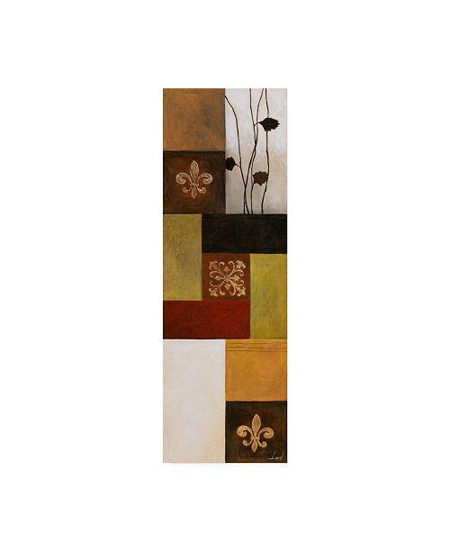 "Trademark Global Pablo Esteban Floral Bold Dark Gematric 3 Canvas Art - 27"" x 33.5"""