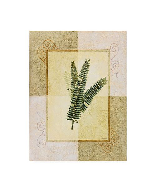 "Trademark Global Pablo Esteban Fern Leaf Framed 3 Canvas Art - 27"" x 33.5"""