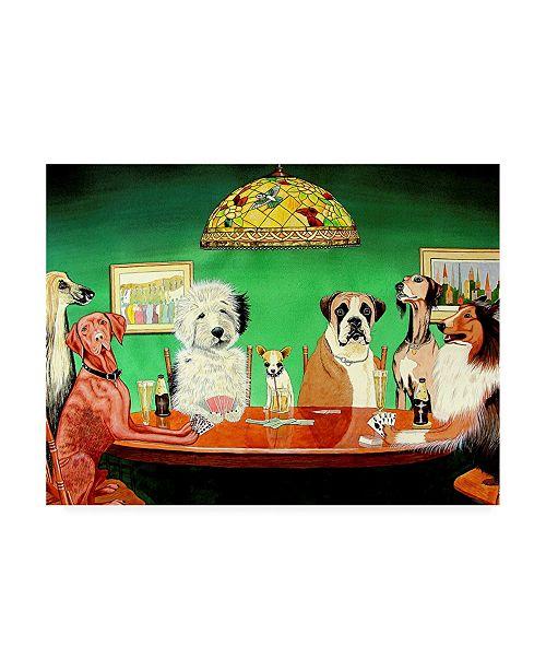 "Trademark Global Patrick Sullivan Dogs Playing Poker Canvas Art - 27"" x 33.5"""