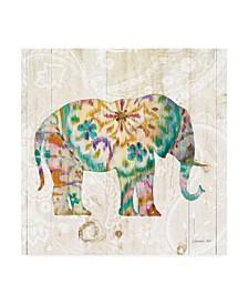 "Danhui Nai Boho Paisley Elephant I Canvas Art - 15.5"" x 21"""