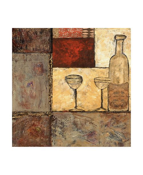 "Trademark Global Elizabeth Franklin Wine For Two I Canvas Art - 36.5"" x 48"""