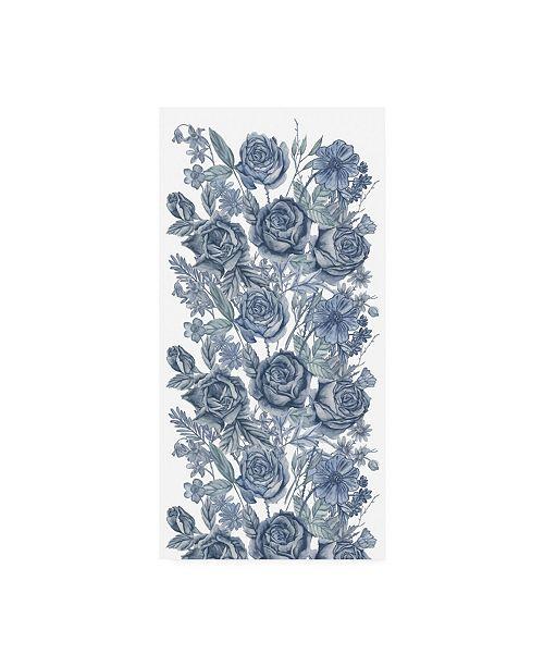 "Trademark Global Melissa Wang Ice Blue Botanical I Canvas Art - 36.5"" x 48"""
