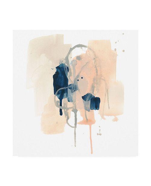 "Trademark Global June Erica Vess Azurite IV Canvas Art - 15.5"" x 21"""
