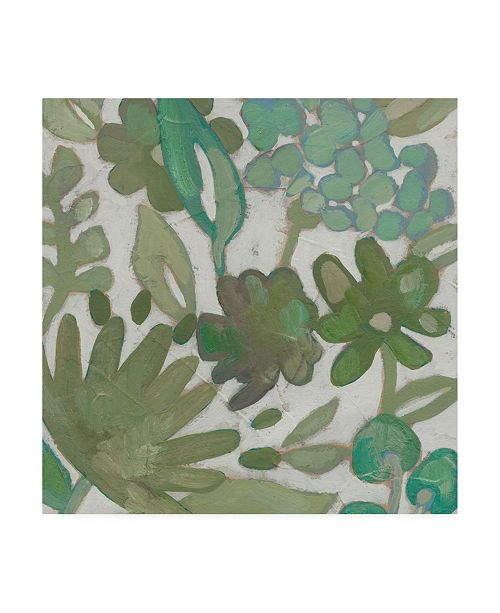 "Trademark Global Chariklia Zarris Greenery I Canvas Art - 15.5"" x 21"""