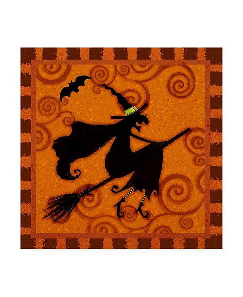 "Trademark Global Viv Eisner Spooktacular Orange III Canvas Art - 36.5"" x 48"""