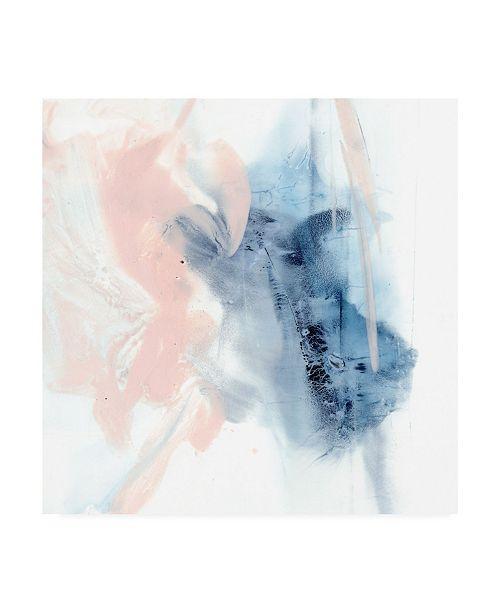 "Trademark Global Ethan Harper Indigo and Blush III Canvas Art - 36.5"" x 48"""