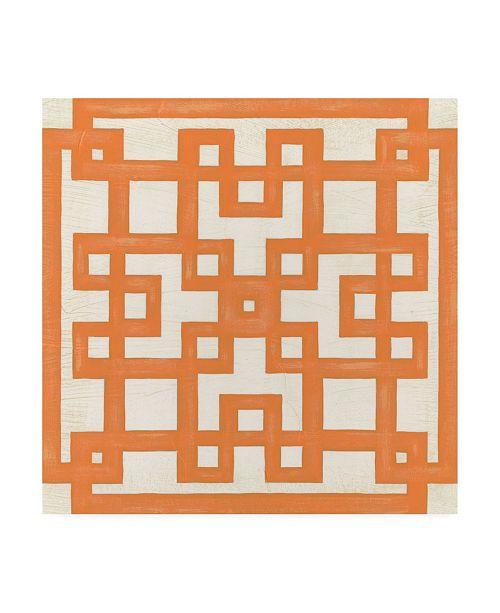 """Trademark Global June Erica Vess Maze Motif I Canvas Art - 15.5"""" x 21"""""""
