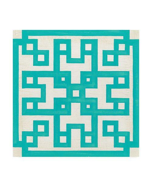 "Trademark Global June Erica Vess Maze Motif III Canvas Art - 36.5"" x 48"""