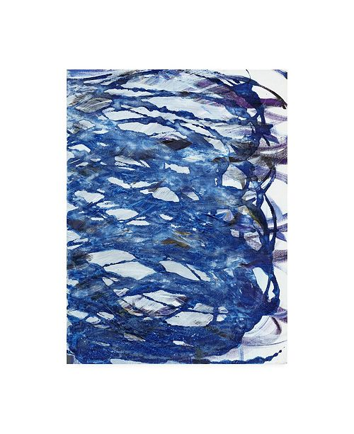"Trademark Global Jodi Fuchs Blue Infinity I Canvas Art - 19.5"" x 26"""