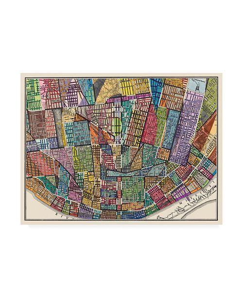 "Trademark Global Nikki Galapon Modern Map of St. Louis Canvas Art - 19.5"" x 26"""