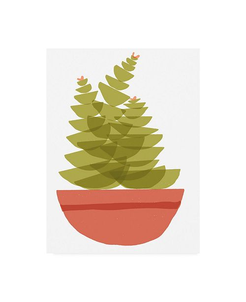 "Trademark Global Rob Delamater Mod Cactus VI Canvas Art - 19.5"" x 26"""