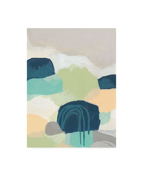 "Trademark Global June Erica Vess Abstract Canvas Art - 36.5"" x 48"""