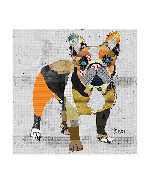 "Trademark Global Michel Keck French Bulldog Body Canvas Art - 15.5"" x 21"""