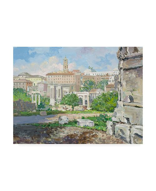 """Trademark Global Peter Snyder Capitoline Hill Canvas Art - 36.5"""" x 48"""""""