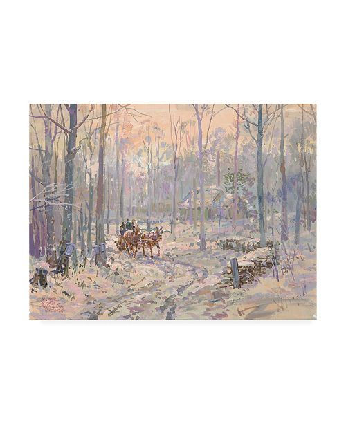 """Trademark Global Peter Snyder End of the First Day Canvas Art - 15.5"""" x 21"""""""