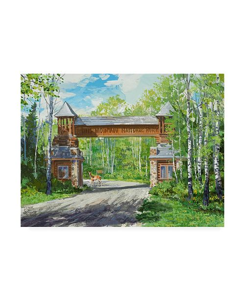 "Trademark Global Peter Snyder Park Welcome Canvas Art - 15.5"" x 21"""