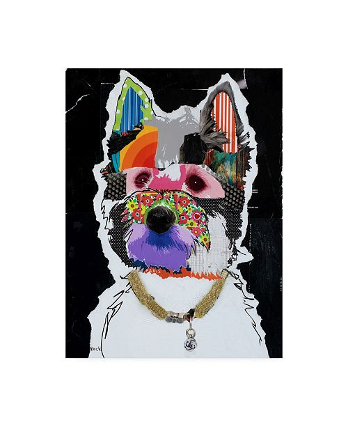 "Trademark Global Michel Keck Westie Abstract Canvas Art - 19.5"" x 26"""